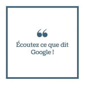 Consignes Google