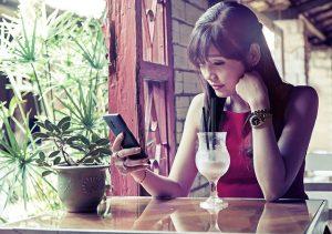 asiatique smartphone