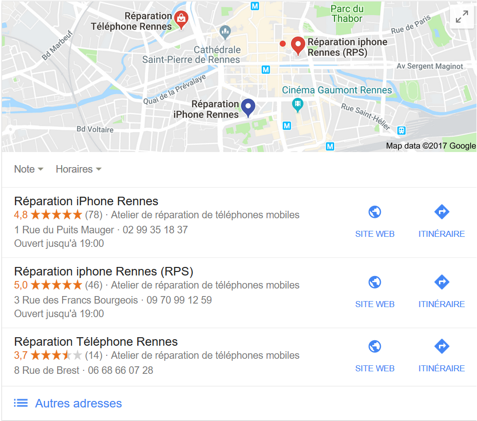 Référencement local, Google My Business