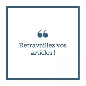 Retravaillez Articles