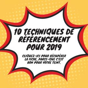 10 techniques référencement