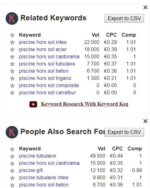 Keyword Everywhe Rerelated